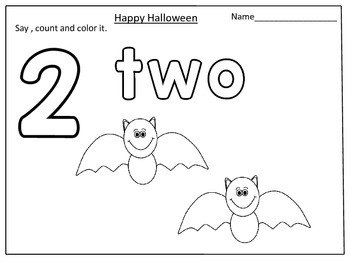 FREE Halloween Themed Math Count and Color (1-10):