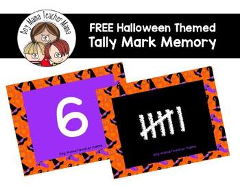 FREE Halloween Themed Tally Mark Memory Game