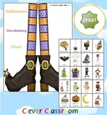 Halloween Vocabulary Chart Free