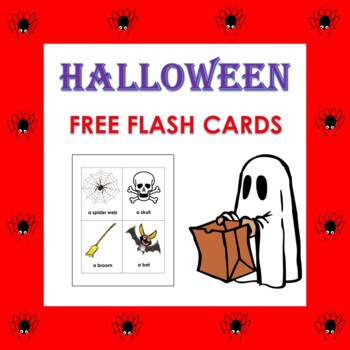 FREE Halloween Vocabulary Flash Cards in English