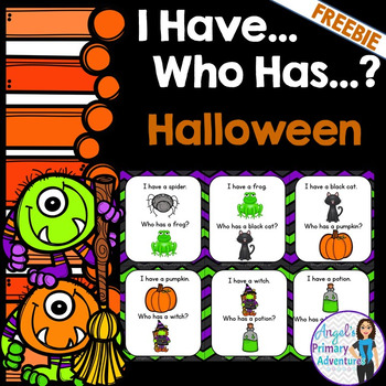 FREE Halloween Vocabulary Game:  I Have...Who Has...