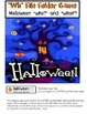 "FREE Halloween ""WH"" Questions File Folder Game"