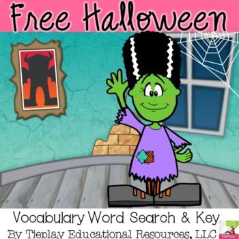 FREE Halloween Word Search Worksheet and Key