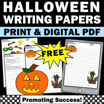 FREE Halloween Creative Writing Papers for Literacy Center Activities
