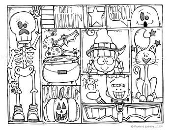 Free Halloween Coloring Page Melonheadz Clipart