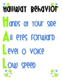 FREE Hallway Behavior Poster