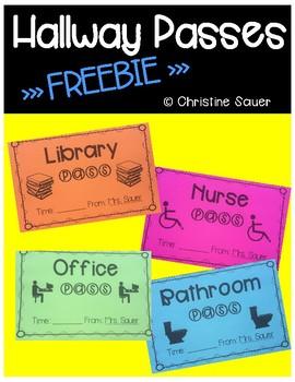 FREE Hallway Passes