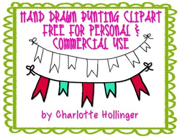 FREE Hand Drawn Bunting Clipart