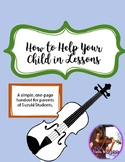 FREE Handout: How to Help Your Child in Music Lessons