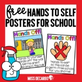 FREE Hands to Self Reminder Posters for Social Distancing