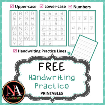 FREE Handwriting Practice Printable (Tracing with Arrows)