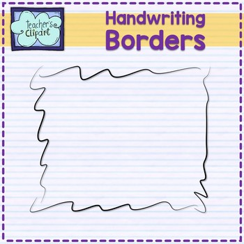 FREE Handwriting borders frames Clip art