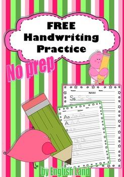 FREE Handwriting practice