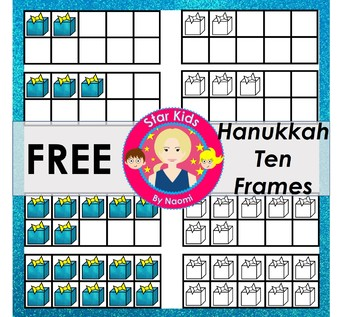 Hanukkah Ten Frames Clipart - FREE {Commercial Use OK}