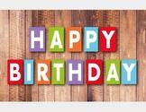 FREE: Happy Birthday Banner & Happy Birthday Certificate