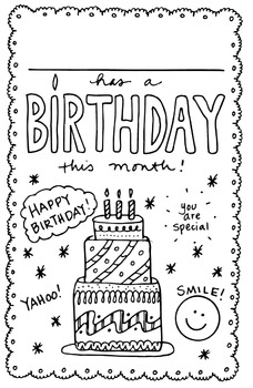 FREE Happy Birthday Locker/Cubby SIGN by science and math doodles