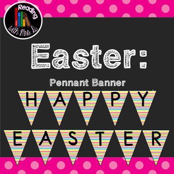 FREE Happy Easter Pennant Banner Bunting