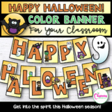 Happy Halloween Banner for Your Classroom or Online Party!