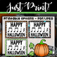 FREE! Happy Halloween Rhythm Printables and Carving Template