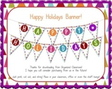 FREE Happy Holidays Banner