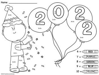 FREE Happy New Year Add and Color