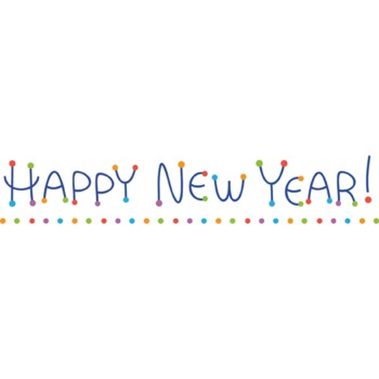 FREE Happy New Year Letterhead Clip art (okay for commercial use)