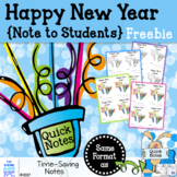 FREE ~ Happy New Year Note