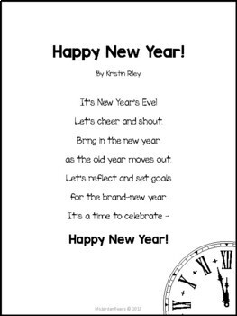 "FREE ""Happy New Year!"" Poem & Activities"