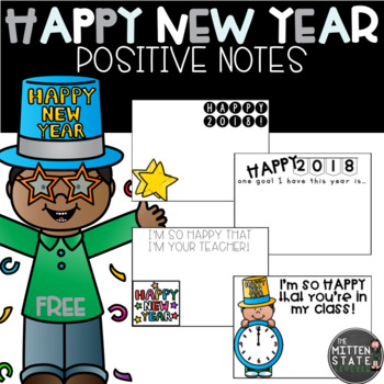 HAPPY NEW YEAR!  Positive Notes: FREEBIE