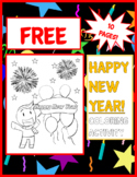 FREE Happy New Years 2019 Coloring Activity | Printable Worksheet, 10 Pages