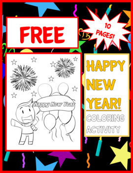 Happy New Year 2019 Coloring Page Teaching Resources Teachers Pay