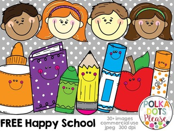 FREE Happy School Pack {Graphics for Commerical Use}