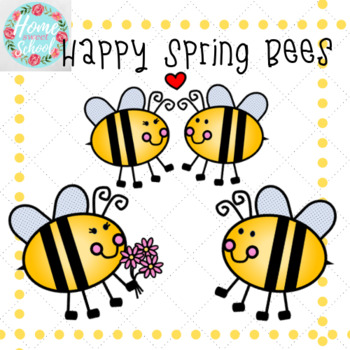 FREE Happy Spring Bee Clip Art