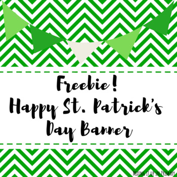 FREE Happy St. Patrick's Day Banner