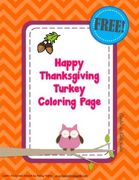 FREE Happy Thanksgiving Turkey Coloring Page