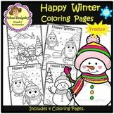 FREE Happy Winter Coloring Pages - Freebie (School Designhcf)