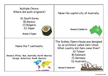 FREE Harmony Day Quiz Cards