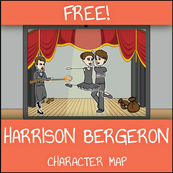 FREE Harrison Bergeron Character Map Worksheet