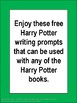 FREE Harry Potter Book Extension Writing Prompts