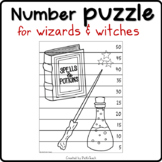 FREE Harry Potter coloring NUMBER PUZZLE #1