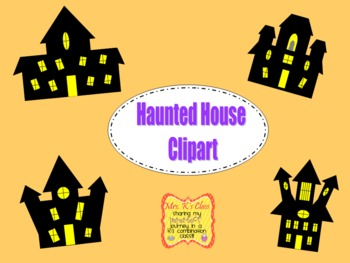 FREE Haunted House Halloween Clipart