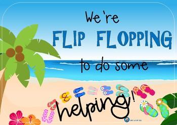 FREE Hawaiian Themed Helper Chart