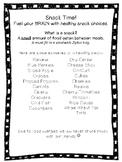 FREE Healthy Snack Printable