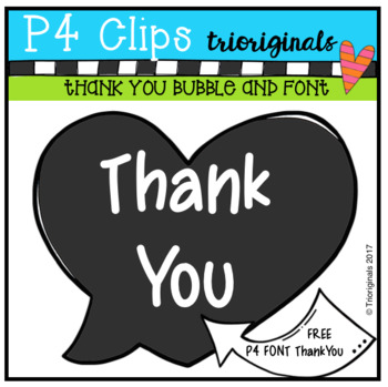 FREE Heart Bubble and P4 FONT Thank You (P4 Clips Trioriginals)