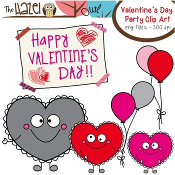 FREE Heart Buddy Valentine's Day Party Clip Art: Graphics for Teachers