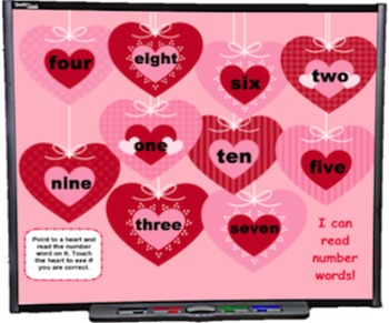 FREE Heart Number Words SMART BOARD Game