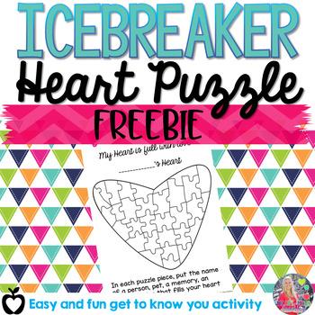 FREE Heart Puzzle Icebreaker activity