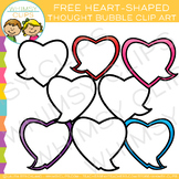FREE  Heart Thought Bubble Valentine Clip Art