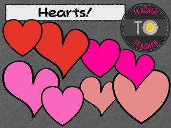 Free Download - Hearts {TeacherToTeacher Clipart} {FREE}