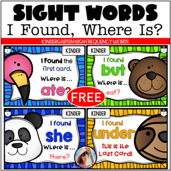 High Frequency Words I Have, Who Has - Free
